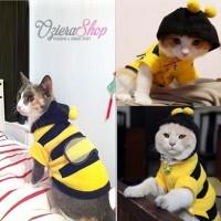 Baju Kucing Anjing Hoodie Lebah / Bee