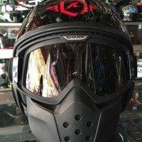 Helm SHARK RAW BLACK RED TRINITY