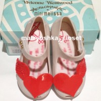 Jual Sepatu Jelly Anak Flat Shoes Mini Melissa Love Wings White Smoke Murah