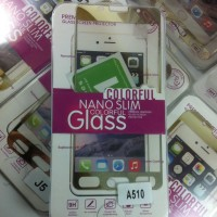 Samsung A5 2016 A510  Colorful Tempered glass gold