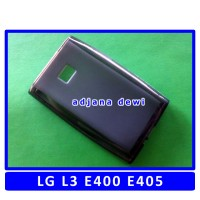 Silikon LG Optimus L3 E400 E405 Dual Sim Soft Jelly Cover Case Hitam