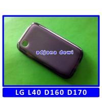 Silikon LG L40 D160 D170 Dual Sim Soft Jelly Cover Case Hitam