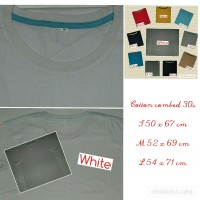 kaos oblong polos cowok bahan ASLI 100% cotton combed