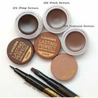 Jual Lanbis Eyebrow Gel & Eyeliner + Brush 3 In 1 Murah