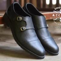 Sepatu Pria Kerja Monk Strap Kulit Pull Up Size 40-44