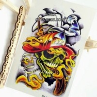 MX-2064 Tattoo Temporary Skull Smoking Hot - Metal