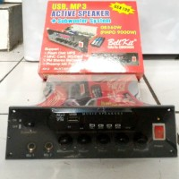 kit aktif speaker subwofer with mp3,usb,sd,remote control 2mic input