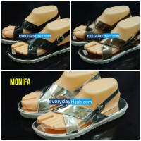Sepatu Sandal Flatform Monifa (Sandal Cewek, Sepatu Cewek)