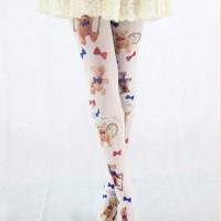Pantyhose Grimore Teddy White Import Taobao Printing Wanita