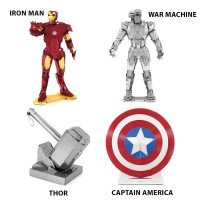 3D Metal Puzzle Logam AVENGERS Iron Man Captain America Thor Model Kit
