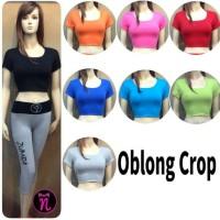 Baju senam Oblong crop / baju aerobic / kaos fitness