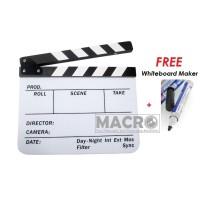 Acrylic Clapperboard Director TV Film Movie Cut Action Scene