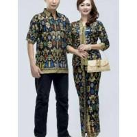 Batik Sarimbit 040 PJ HITAM Batik couple pria wanita setelan modern