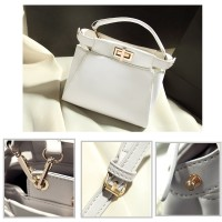 80619 White PU - Tas Import Wanita / Batam / Hermes / Fashion Korea