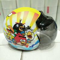 Jual Helm Anak Retro Lucu Model Bogo Angry Birds HQRR Murah