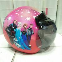 Jual Helm Anak Retro Lucu Model Bogo Frozen I9NJ Murah