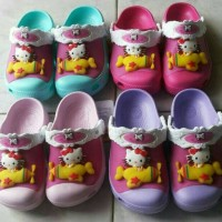 Sandal kids crocs hello kitty hk lampu light