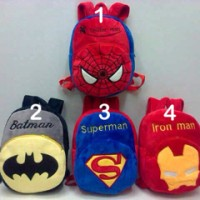 Import Tas Ransel Anak Spiderman,Batman,Superman,Ironman