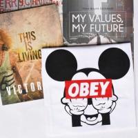 OBEY - Baju / Kaos kata kata/ tumblr Tshirt / Shout Tee