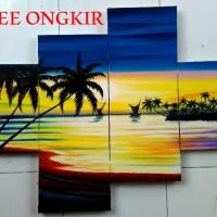GRATIS ONGKIR - Lukisan Pemandangan Pantai