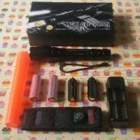 harga senter swat police T6 2B 2 baterai zoom tarik sarung cone lalin Tokopedia.com