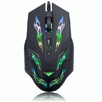 Rajfoo I5 Optical Wired USB Gaming Mouse / Jual Mouse Game Murah