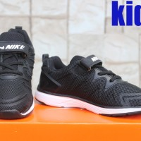Sepatu Running Kids-Sneakers Nike Free Run Anak Hitam