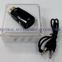 Converter HDMI to VGA Plus Audio Bentuk Dongle Packing Mika