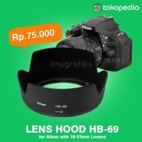 Lens hood HB-69 for nikon 18-55mm VR AF AF-S Bayonet