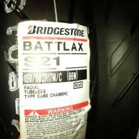 Ban Belakang Bridgestone Battlax 150/60-17 S21 HyperSport Tubeles Rear