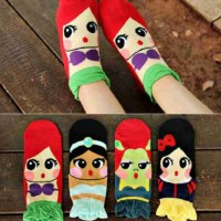 Kaos Kaki Anak Perempuan Karakter Princess Disney Girls Socks 3-7th