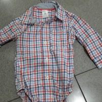 Baju bayi Kemeja kotak baby jumper carter oshkosh 3-24mo shirt romper