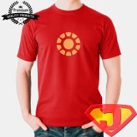 Kaos Pria / Wanita - Movie Superhero - Iron Man Reactor Light