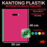 KANTONG PLASTIK BUNGKUS PAKAIAN Tas Kresek 30 x 40 Baju Online Shop
