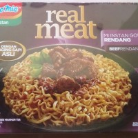 """INDOMIE GORENG NEW """"REAL MEAT RASA BEEF RENDANG"""" 110 GR NET"""