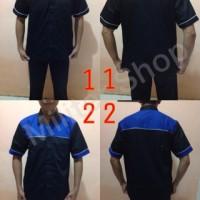 Jual Seragam Crew/Kemeja Kombinasi/Baju Kerja/Mekanik/Office Boy/Bengkel Murah