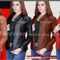Jual jaket kulit wanita gaul & keren harga murah grosiran Murah