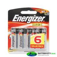 Baterai Aa Energizer / E91 Aa Bp 6 Max