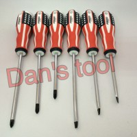 obeng set 6 pcs gagang bendera USA