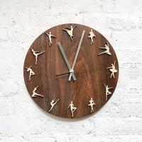 Wooden Ballet Wall Clock | Jam dinding kayu ballet