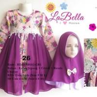 Baju Muslim/Gamis Anak Labella (Usia 7 - 11th) SB102-CR1 Ungu No.26
