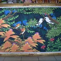 harga Lukisan Burung Jalak Bali Putih Background Hijau Ukuran Besar (135x85) Tokopedia.com