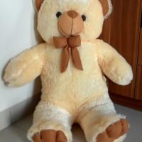 Boneka Teddy Bear Cream Jumbo 1 Meter. Premium High Quality!