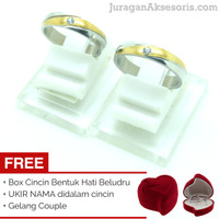 [UKIR NAMA + BOX HATI] Cincin Couple 108 + GELANG COUPLE (TERMURAH)