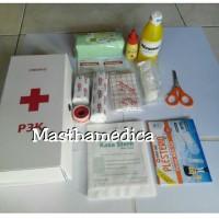 Kotak P3k + Isi / Alat Perawatan Luka Kecelakaan Lengkap Untuk Mobil