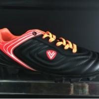 sepatu bola vegeto larizo sc black red 2016 new model original 100%