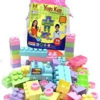 Lego Block Mainan Bayi/Balita Yoyo Kids 75pcs