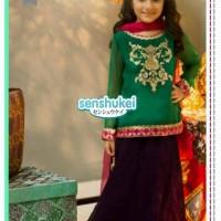 harga Baju anak cewe model sari india green (1 set) size kecil Tokopedia.com