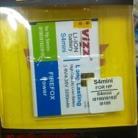 Baterai Vizz Samsung Galaxy S4 Mini / I9190/Batre Double Power Origina