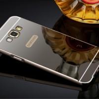 Mirror Back Cover Case Samsung Galaxy E5/E7 Casing Alumunium Bumper
